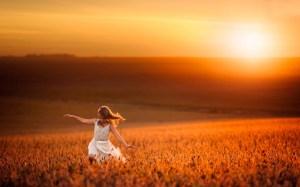 sunset-field-little-girl-running-mood-grass-wind-dress-country-picture-wallpaper