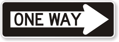 Right-Arrow-One-Way-Sign-X-R6-1R